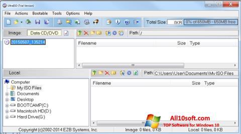 Ekran görüntüsü UltraISO Windows 10