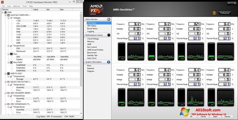 Ekran görüntüsü AMD Overdrive Windows 10