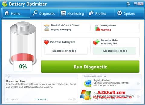 Ekran görüntüsü Battery Optimizer Windows 10