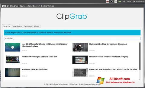 Ekran görüntüsü ClipGrab Windows 10