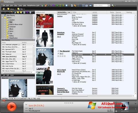 Ekran görüntüsü MediaMonkey Windows 10