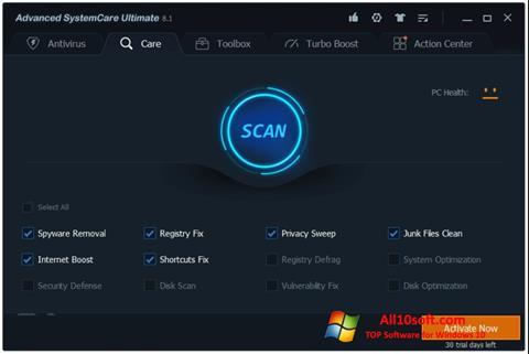 Ekran görüntüsü Advanced SystemCare Windows 10