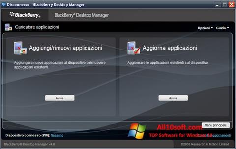 Ekran görüntüsü BlackBerry Desktop Manager Windows 10