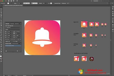 Ekran görüntüsü Adobe Illustrator CC Windows 10