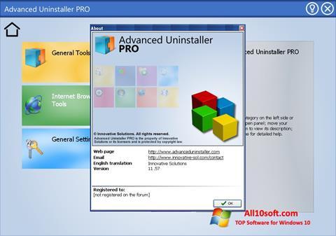 Ekran görüntüsü Advanced Uninstaller PRO Windows 10