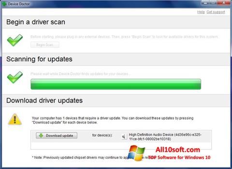 Ekran görüntüsü Device Doctor Windows 10