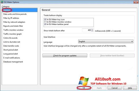 Ekran görüntüsü DU Meter Windows 10