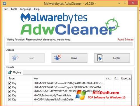 Ekran görüntüsü AdwCleaner Windows 10