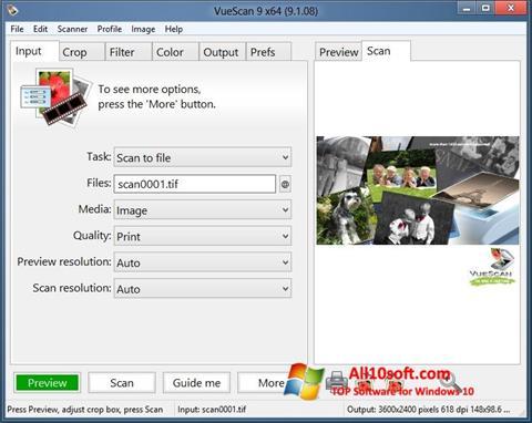 Ekran görüntüsü VueScan Windows 10