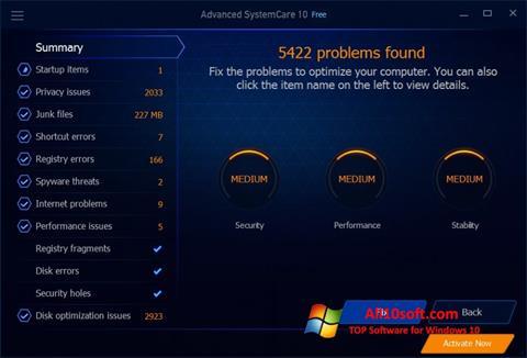 Ekran görüntüsü Advanced SystemCare Free Windows 10