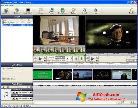Ekran görüntüsü VideoPad Video Editor Windows 10