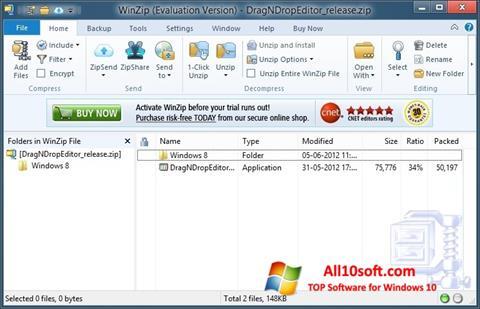 Ekran görüntüsü WinZip Windows 10