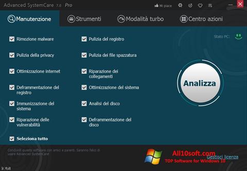 Ekran görüntüsü Advanced SystemCare Pro Windows 10