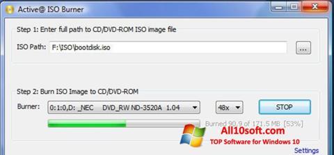 Ekran görüntüsü ISO Burner Windows 10