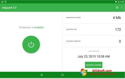 Ekran görüntüsü Adguard Windows 10