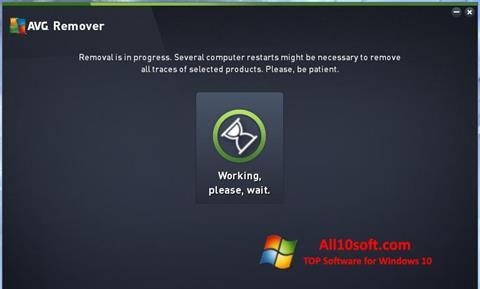 Ekran görüntüsü AVG Remover Windows 10