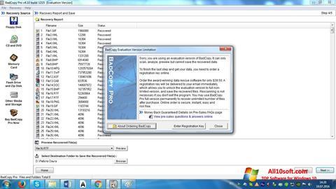 Ekran görüntüsü BadCopy Pro Windows 10