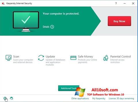 Ekran görüntüsü Kaspersky Internet Security Windows 10