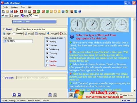 Ekran görüntüsü Auto ShutDown Windows 10