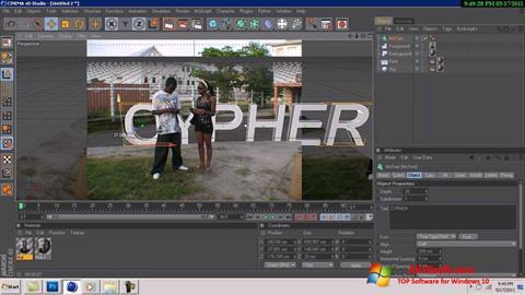 Ekran görüntüsü CINEMA 4D Windows 10