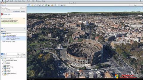 Ekran görüntüsü Google Earth Windows 10
