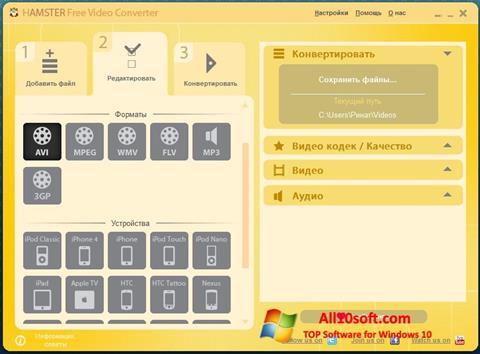 Ekran görüntüsü Hamster Free Video Converter Windows 10