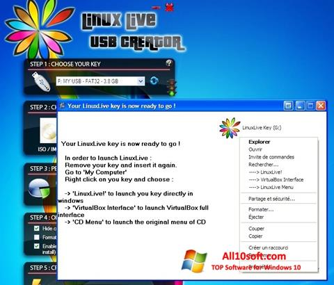 Ekran görüntüsü LinuxLive USB Creator Windows 10