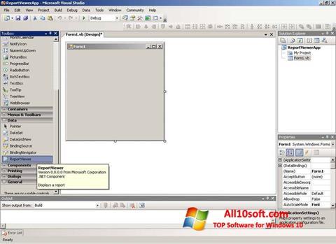 Ekran görüntüsü Microsoft Visual Studio Express Windows 10