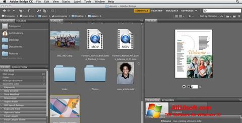 Ekran görüntüsü Adobe Bridge Windows 10