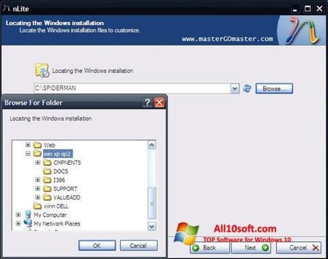 Ekran görüntüsü nLite Windows 10