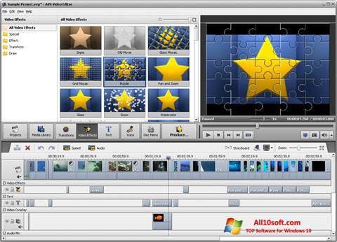 Ekran görüntüsü AVS Video Editor Windows 10