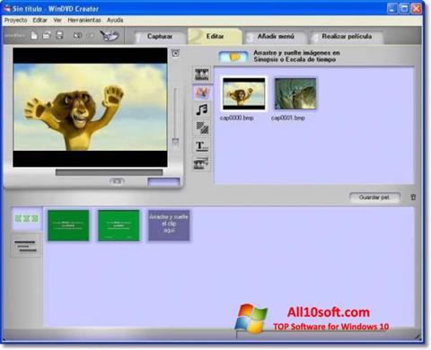 Ekran görüntüsü WinDVD Creator Windows 10