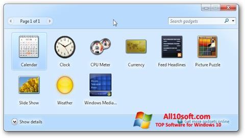 Ekran görüntüsü 8GadgetPack Windows 10