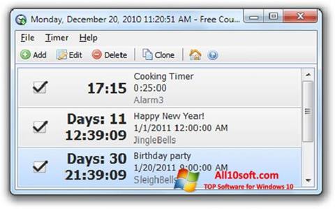 Ekran görüntüsü Free Countdown Timer Windows 10