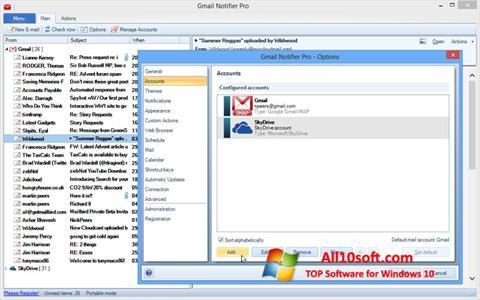 Ekran görüntüsü Gmail Notifier Windows 10