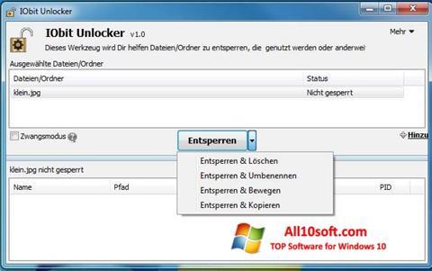 Ekran görüntüsü IObit Unlocker Windows 10