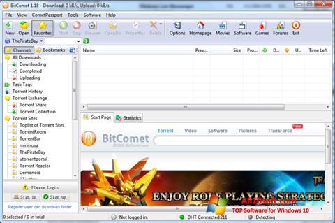 Ekran görüntüsü BitComet Windows 10