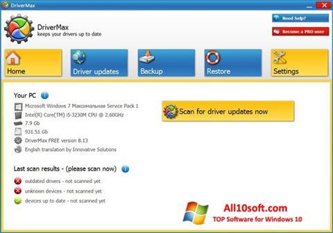 Ekran görüntüsü DriverMax Windows 10