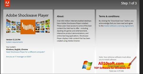Ekran görüntüsü Adobe Shockwave Player Windows 10