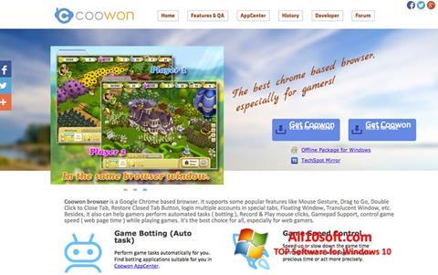 Ekran görüntüsü Coowon Browser Windows 10