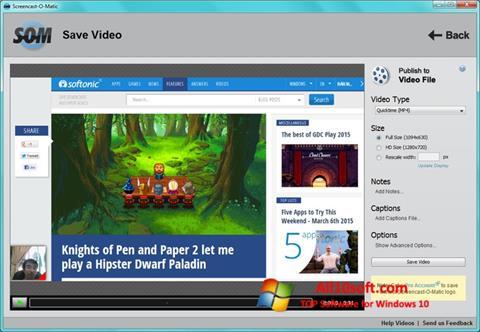 Ekran görüntüsü Screencast-O-Matic Windows 10