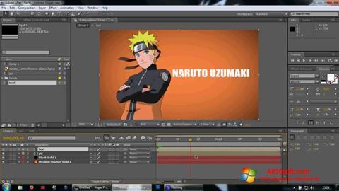 Ekran görüntüsü Adobe After Effects Windows 10