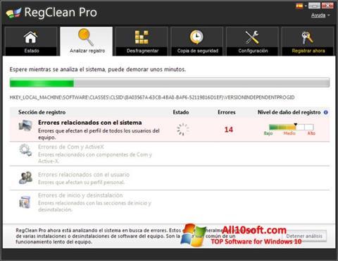 Ekran görüntüsü RegClean Pro Windows 10