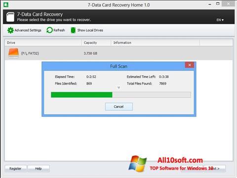 Ekran görüntüsü CardRecovery Windows 10