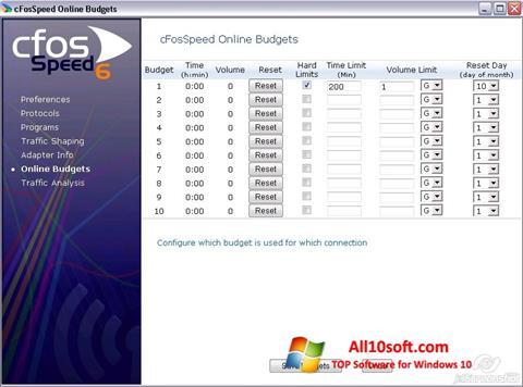 Ekran görüntüsü cFosSpeed Windows 10
