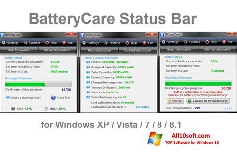 Ekran görüntüsü BatteryCare Windows 10
