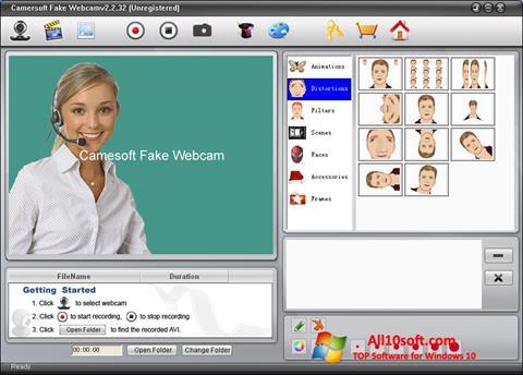 Ekran görüntüsü Fake Webcam Windows 10