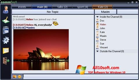 Ekran görüntüsü CommFort Windows 10