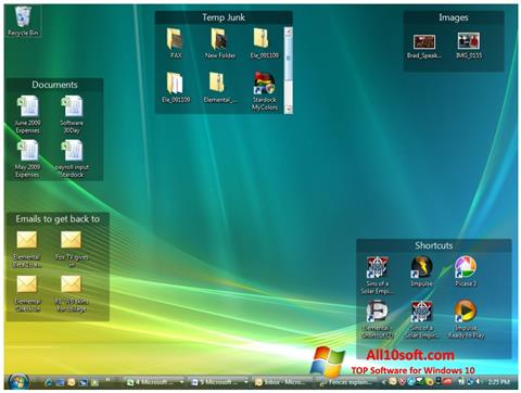 Ekran görüntüsü Fences Windows 10