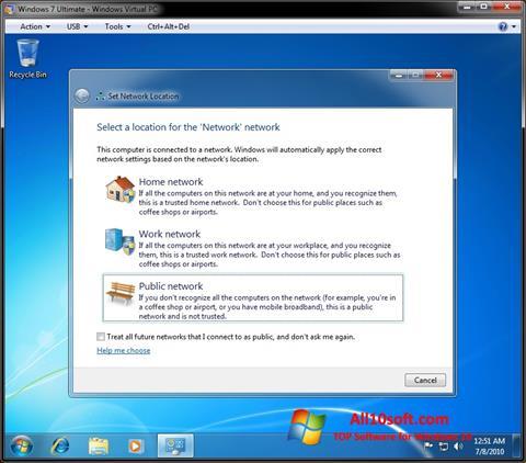 Ekran görüntüsü Windows Virtual PC Windows 10